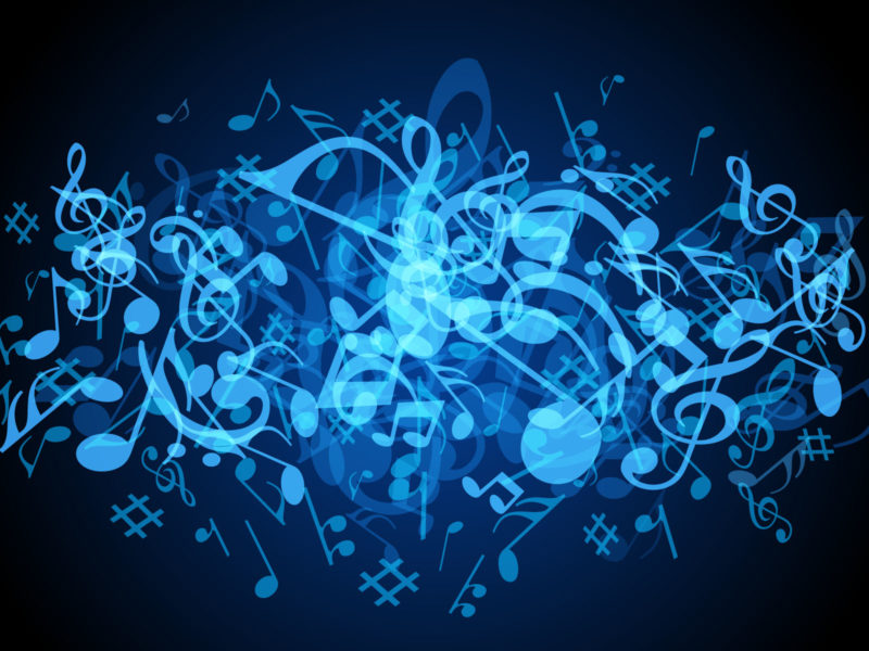 Blue Music Backgrounds Powerpoint