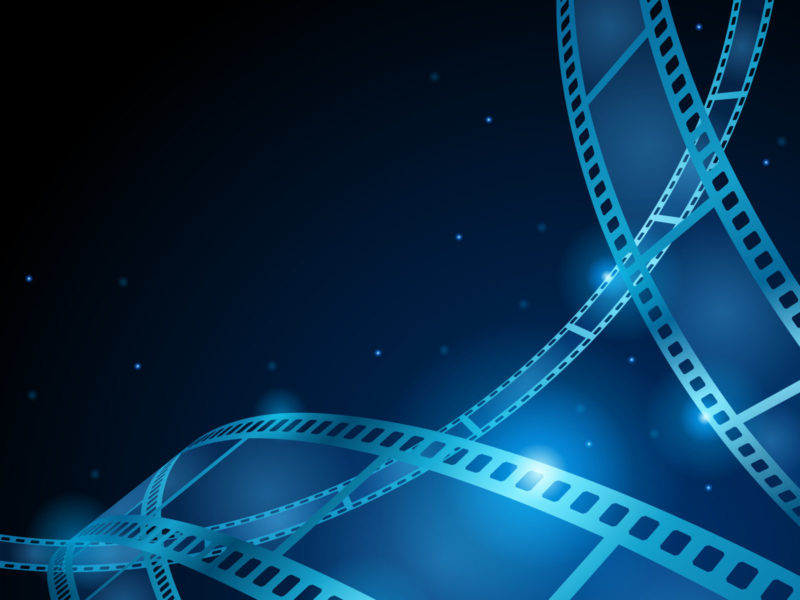 Blue movie, film strip backgrounds