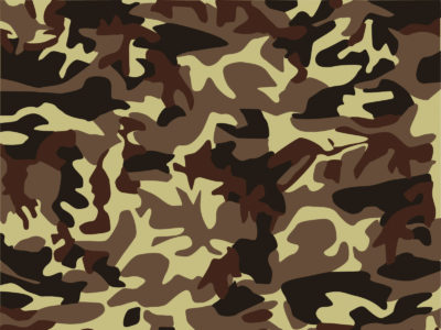 Brown seamless camouflage ppt background