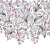 Decorative Flower Swirls Background