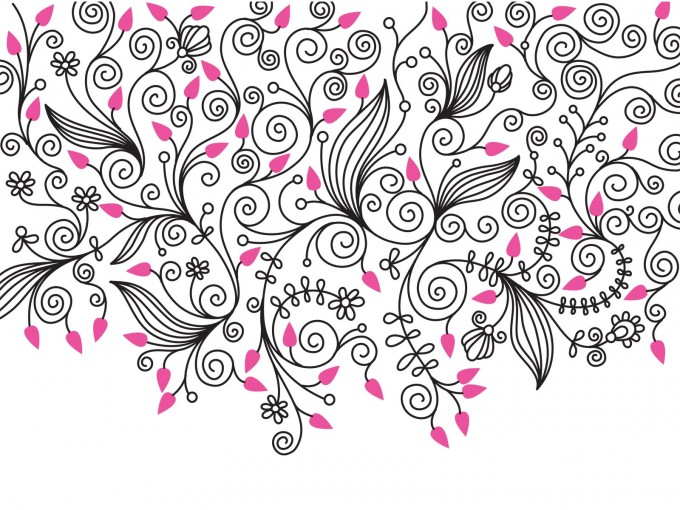 Decorative Flower Swirls PPT Backgrounds