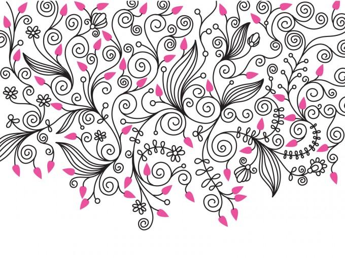 Decorative Flower Swirls PPT Backgrounds
