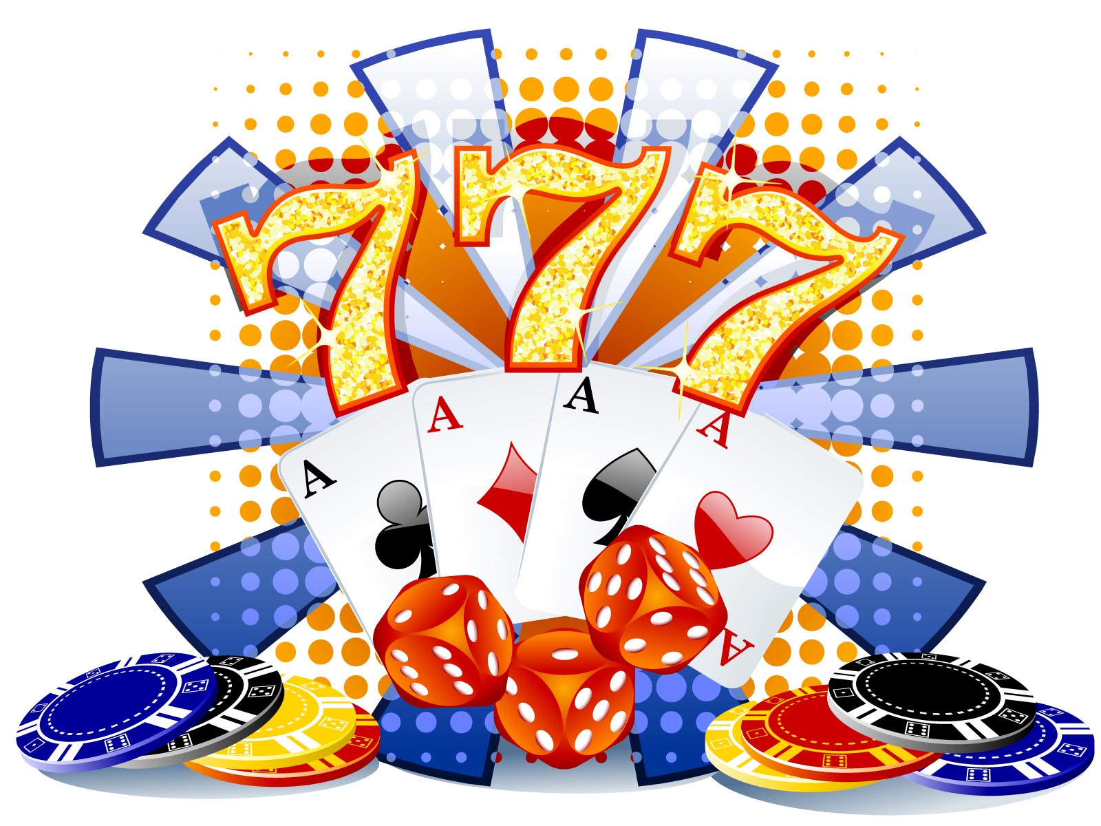 Gambling illustration with Casino Elements Backgrounds