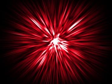 Glowing Laser Burst