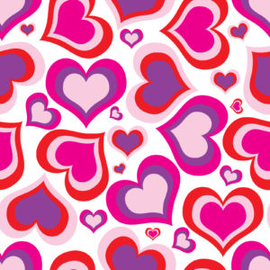 Pink Heart Pattern PPT Backgrounds