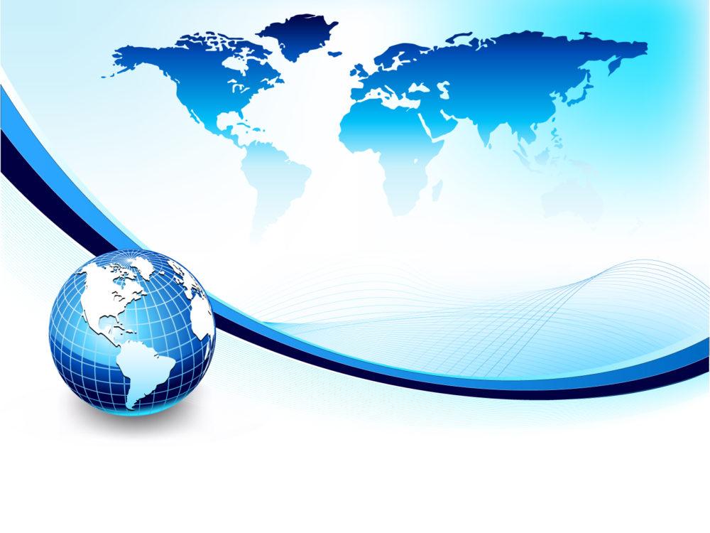 3d blue globe powerpoint ppt backgrounds 3d blue business 3d blue globe powerpoint background toneelgroepblik Images
