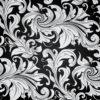 Black Floral Vintage Pattern PPT Backgrounds