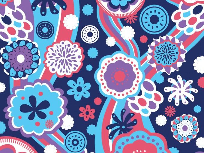 Floral Retro PPT Backgrounds