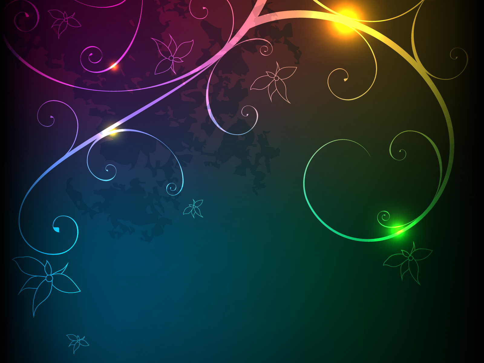 Glowing Floral pptBackgrounds