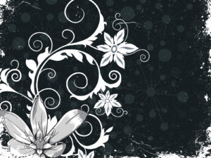 Grunge Floral PPT Backgrounds