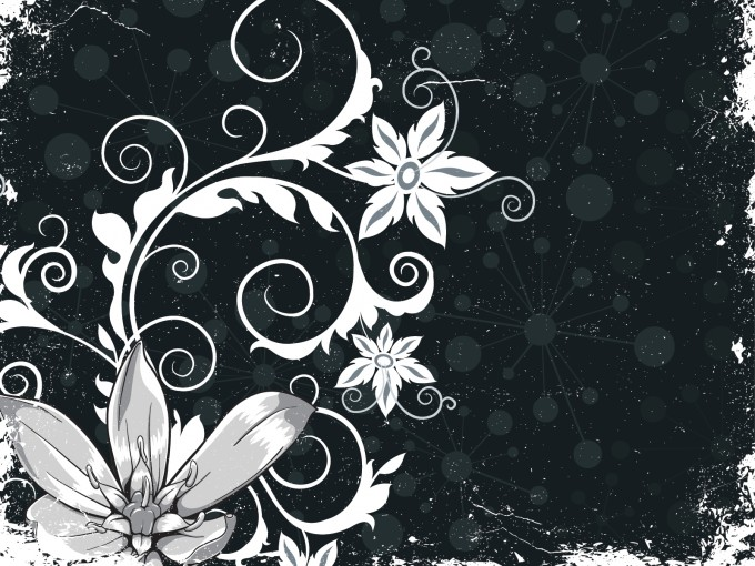 Grunge Floral Powerpoint PPT Backgrounds