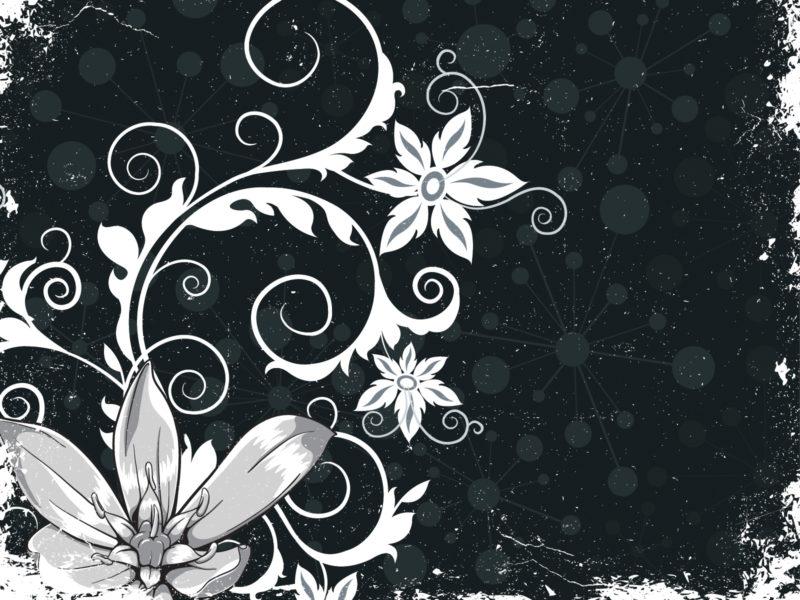Grunge Floral PPT Backgrounds