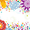 Simplistic Floral Border Backgrounds