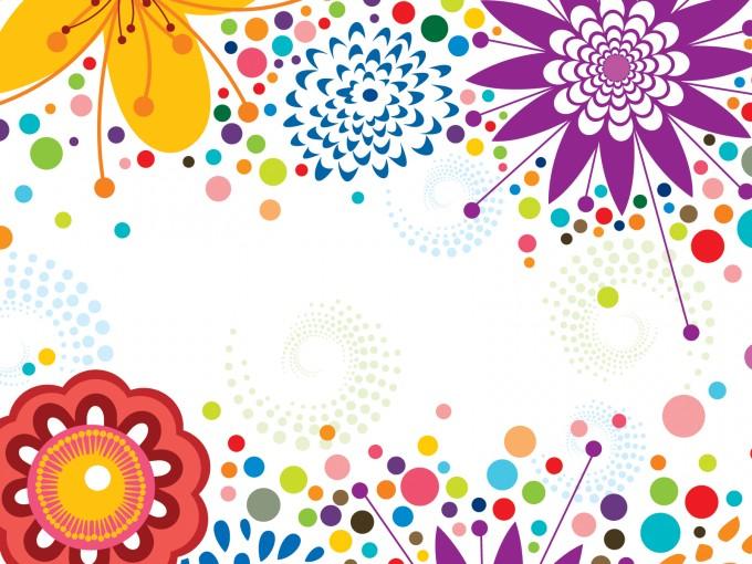 Simplistic Floral Border PPT Backgrounds