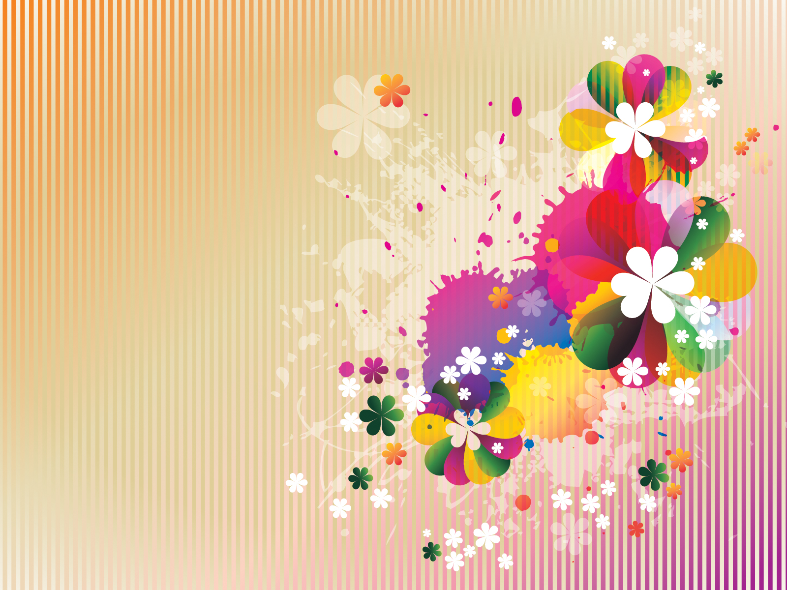 Spring Floral ppt Backgrounds