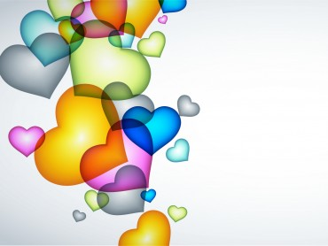 The heart balloons for Love