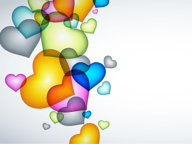 The heart balloons for Love Backgrounds
