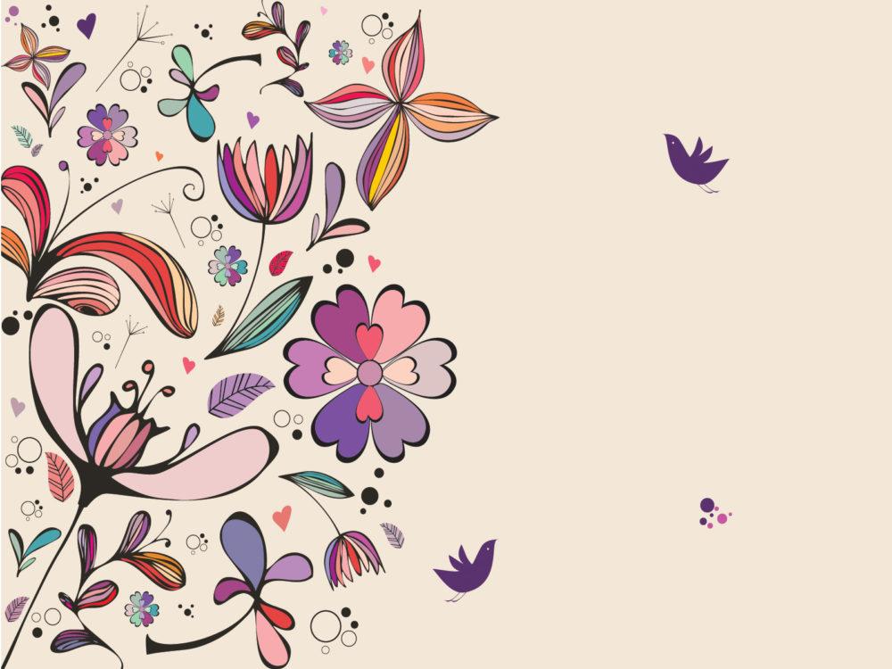 Vintage Floral Powerpoint Backgrounds Border Amp Frames Colors Flowers Ppt Backgrounds