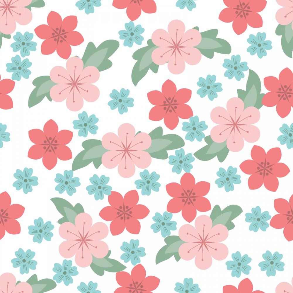 White Flower Pattern Backgrounds