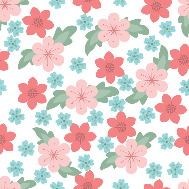 White Flower Pattern PPT Backgrounds