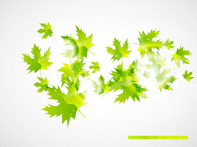 Abstract Leaves Powerpoint PPT Backgrounds