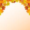Autumn Leaf Frame PPT Backgrounds