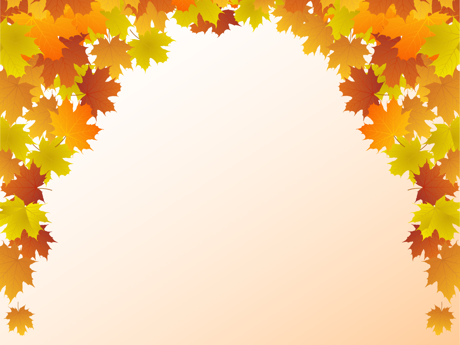 Autumn Leaf Frame PPT Backgrounds