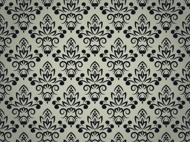 Black Floral Pattern with Seamless