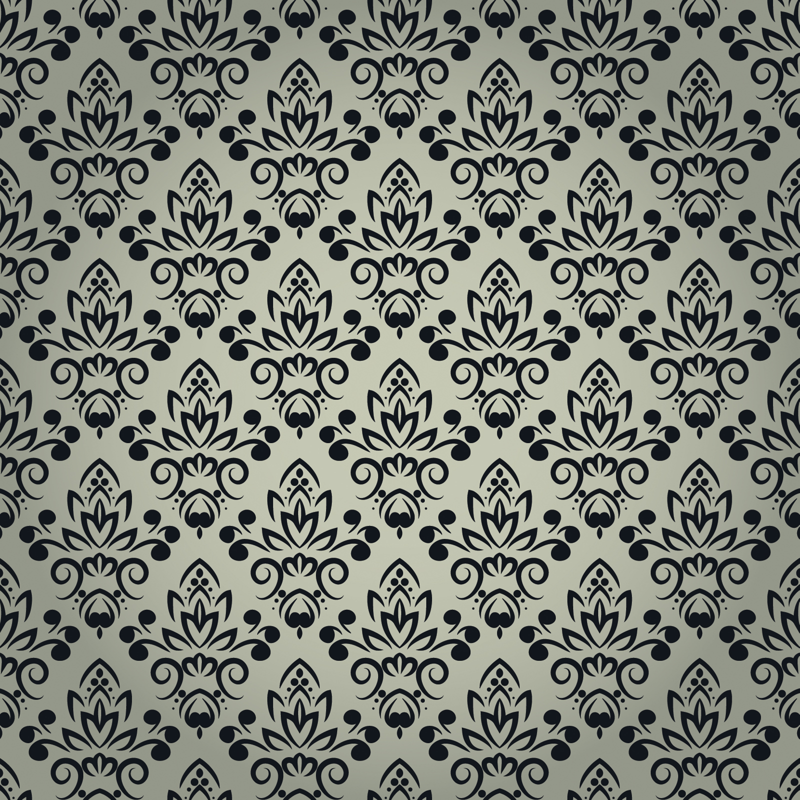 lack Floral Pattern with Seamless