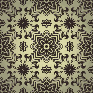 Black and White Seamless Pattern PPT Background