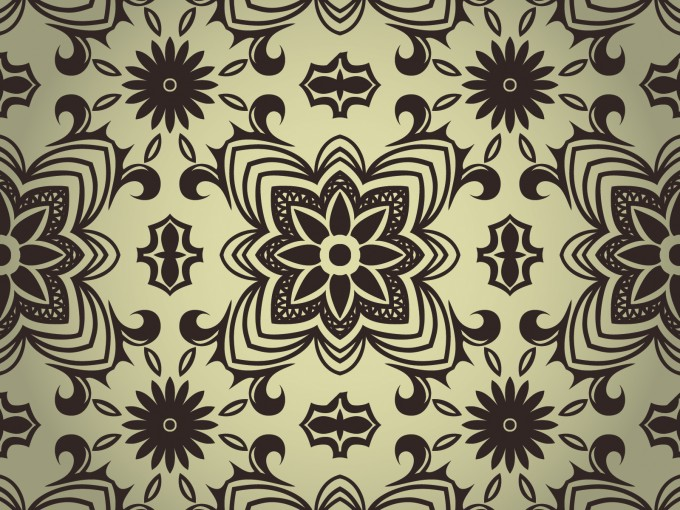 Black and White Seamless Pattern PPT Backgrounds