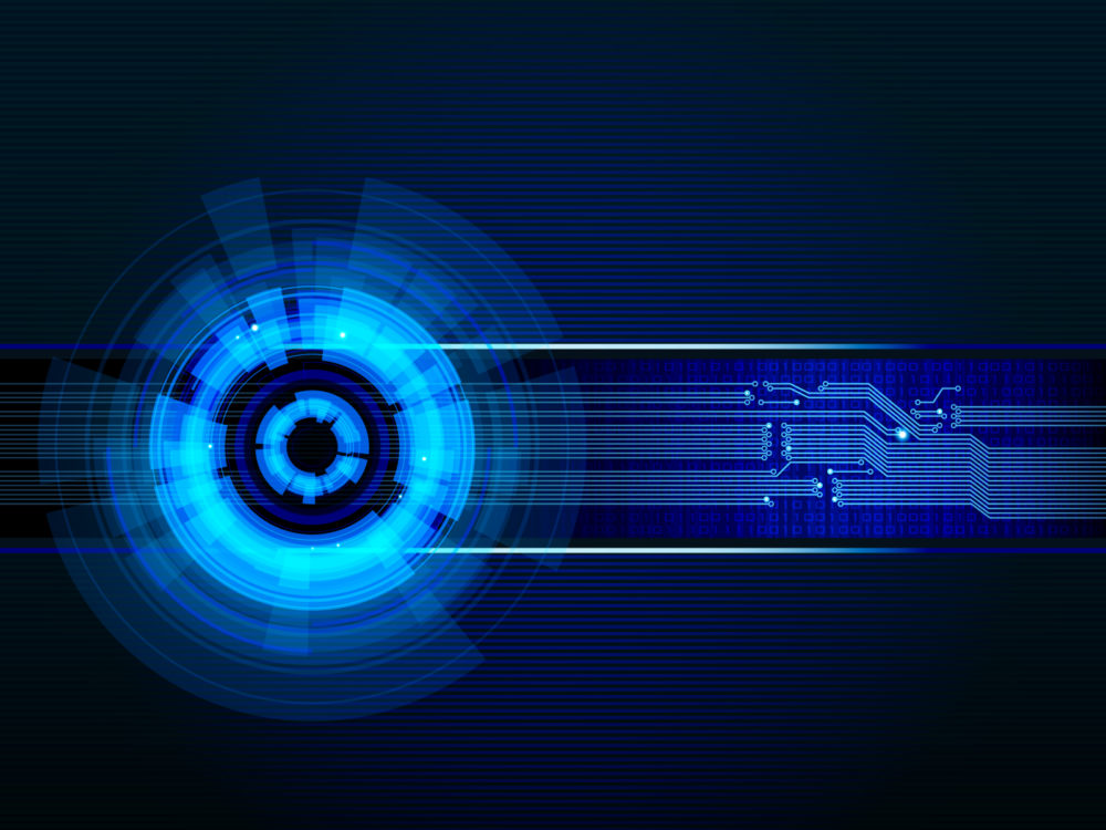 Blue light effected technology Backgrounds - Abstract