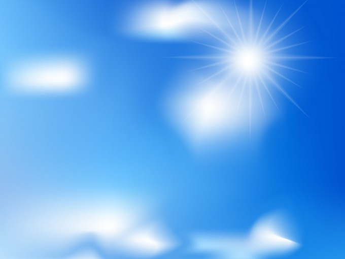 Blue sky with clouds PPT Backgrounds