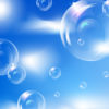 Bubbles in sky PPT Template