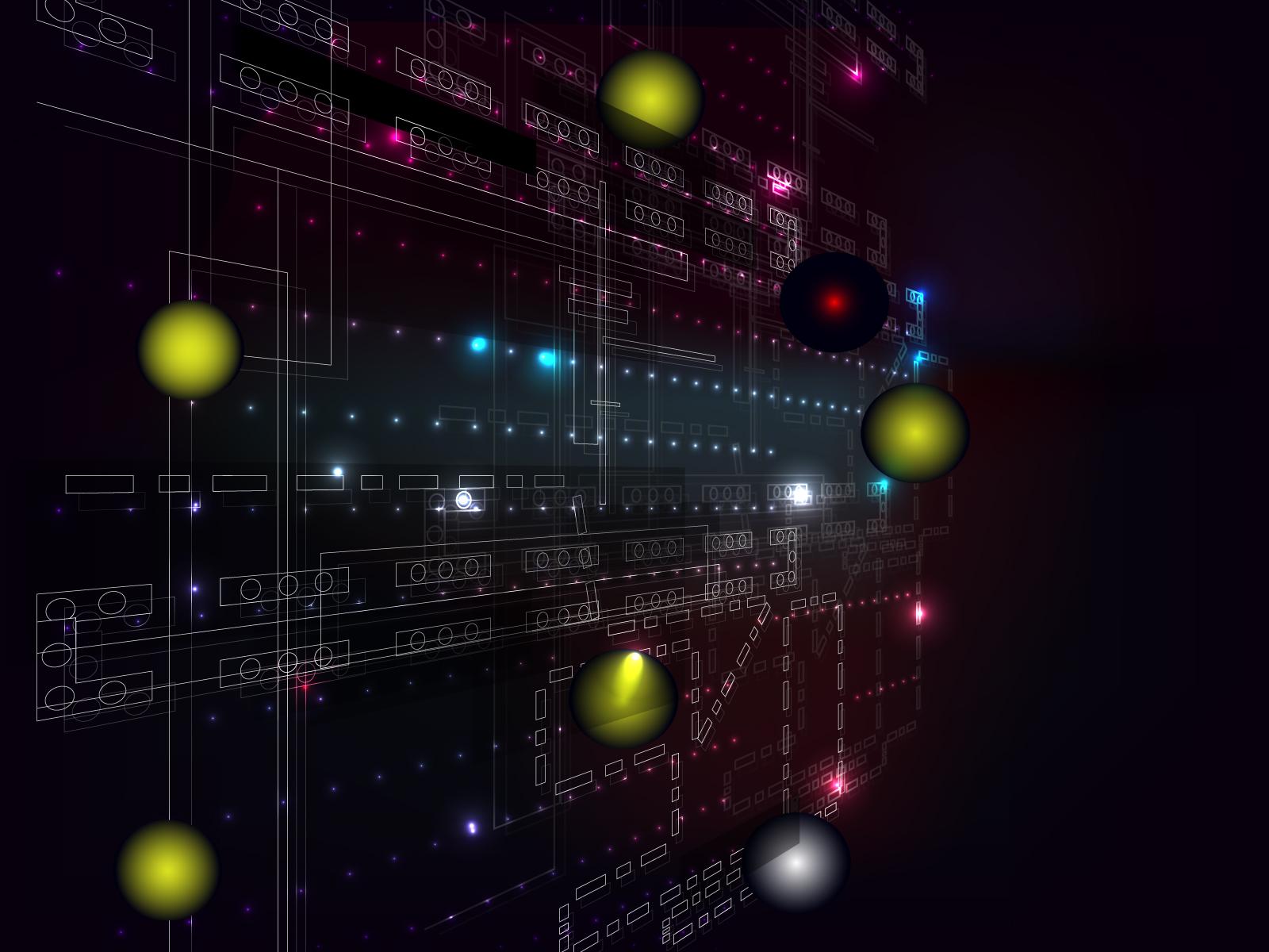 Digital Tech Ppt Backgrounds 3d Black Blue Colors