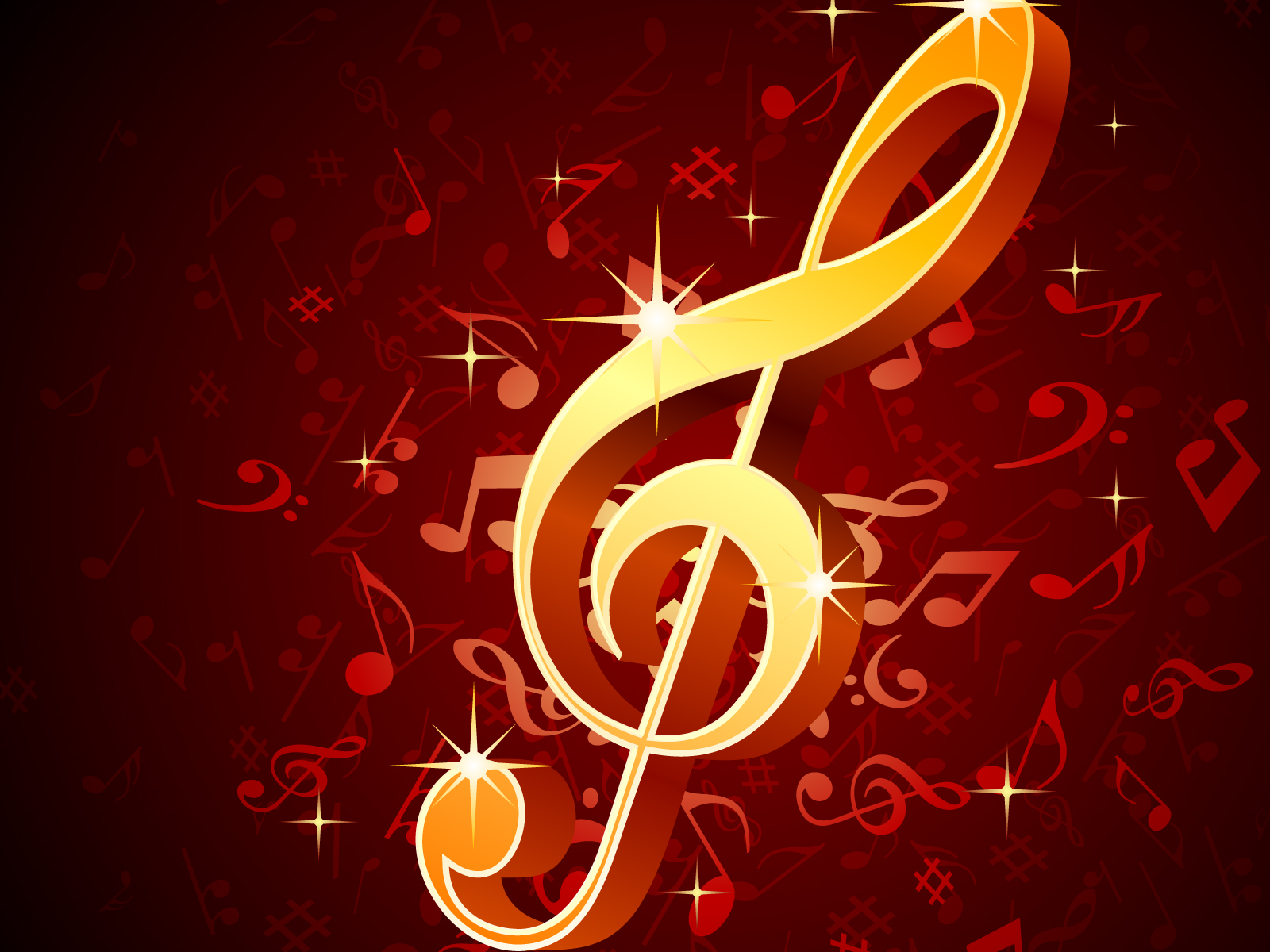 Flying Musical Notes PPT Backgrounds