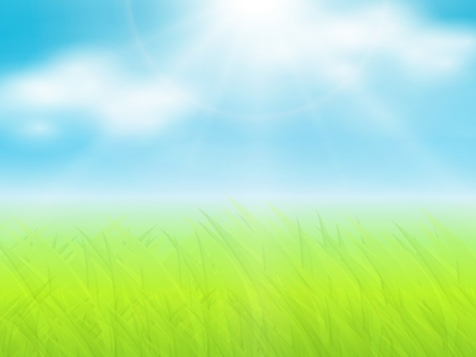 Grass and sun ppt PPT Backgrounds