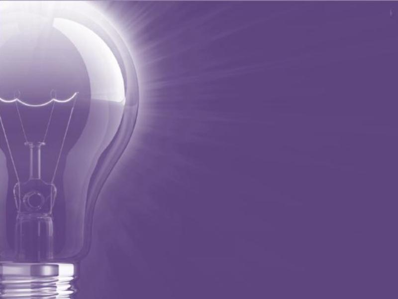 Lightbulb Purple PPT Backgrounds