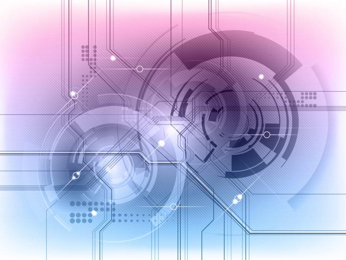 Modern Tech Effect Presentation PPT Backgrounds