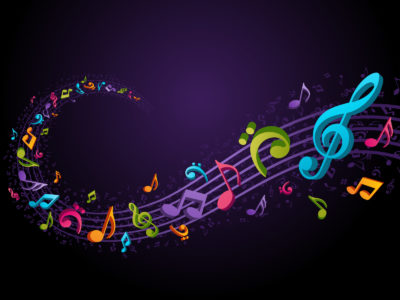Musical Coloured Purple Backgrounds
