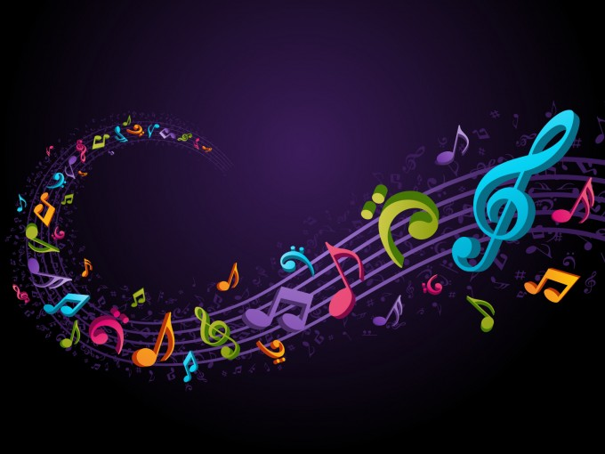Musical Coloured Purple PPT Backgrounds