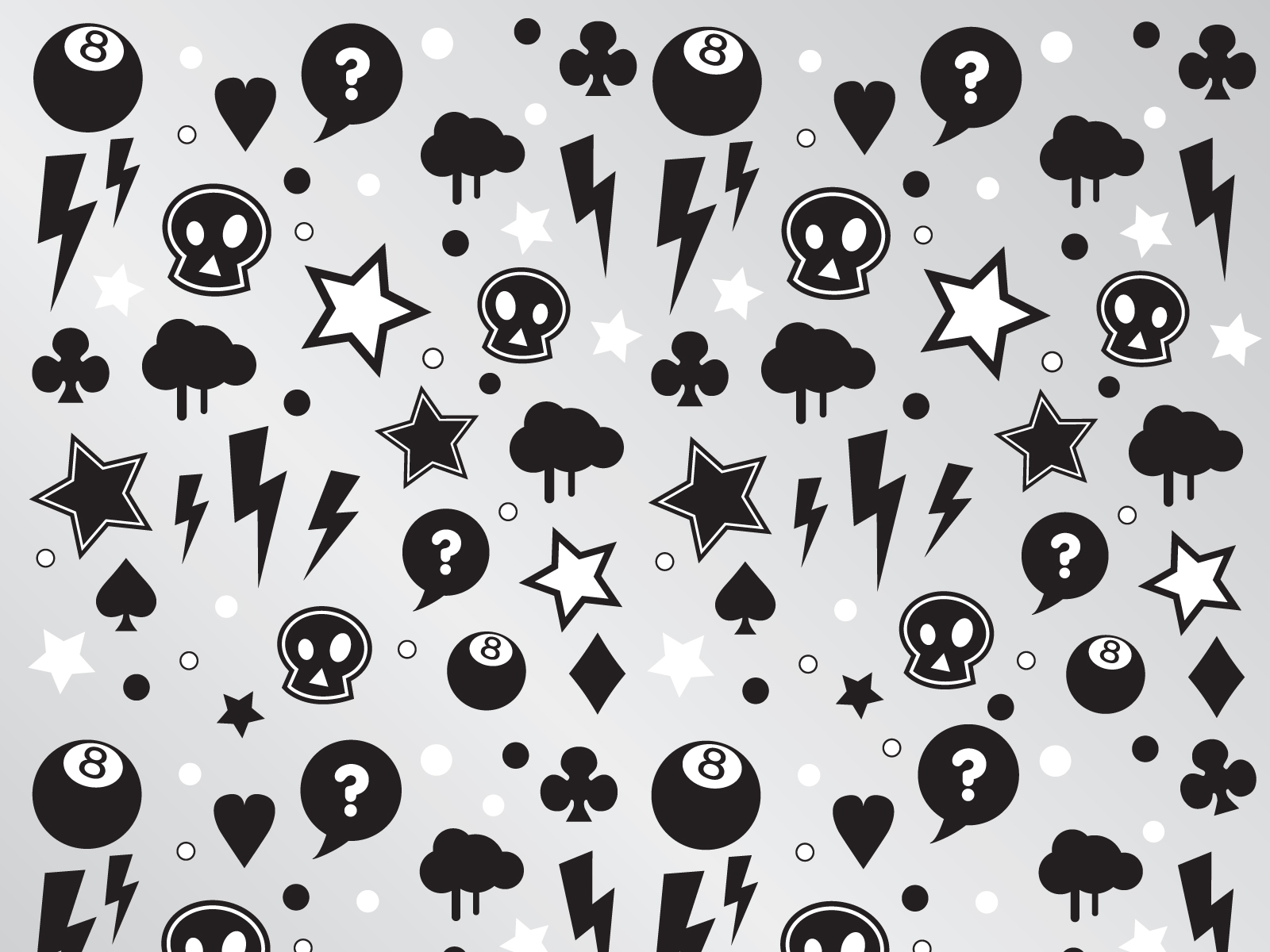 Punk Characters Pattern ppt template