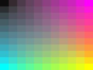 Rainbow Grid PPT Template