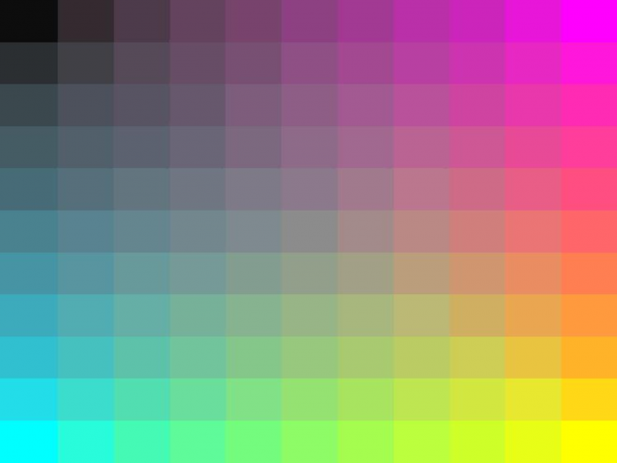 Rainbow Grid PPT Template PPT Backgrounds