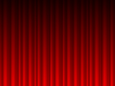 Red Curtains Vector Powerpoint