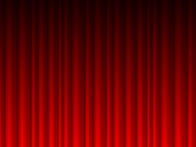 Red Curtains Vector Powerpoint PPT Backgrounds