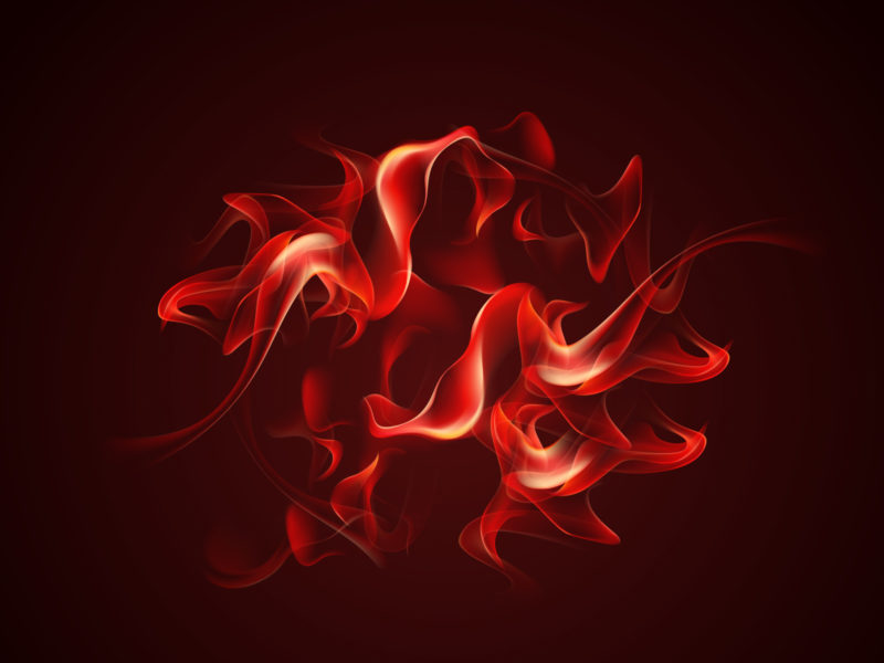 Red Fire PPT Template