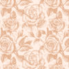 Retro Rose Flowers Pattern Backgrounds