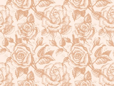 Retro Rose Flowers Pattern
