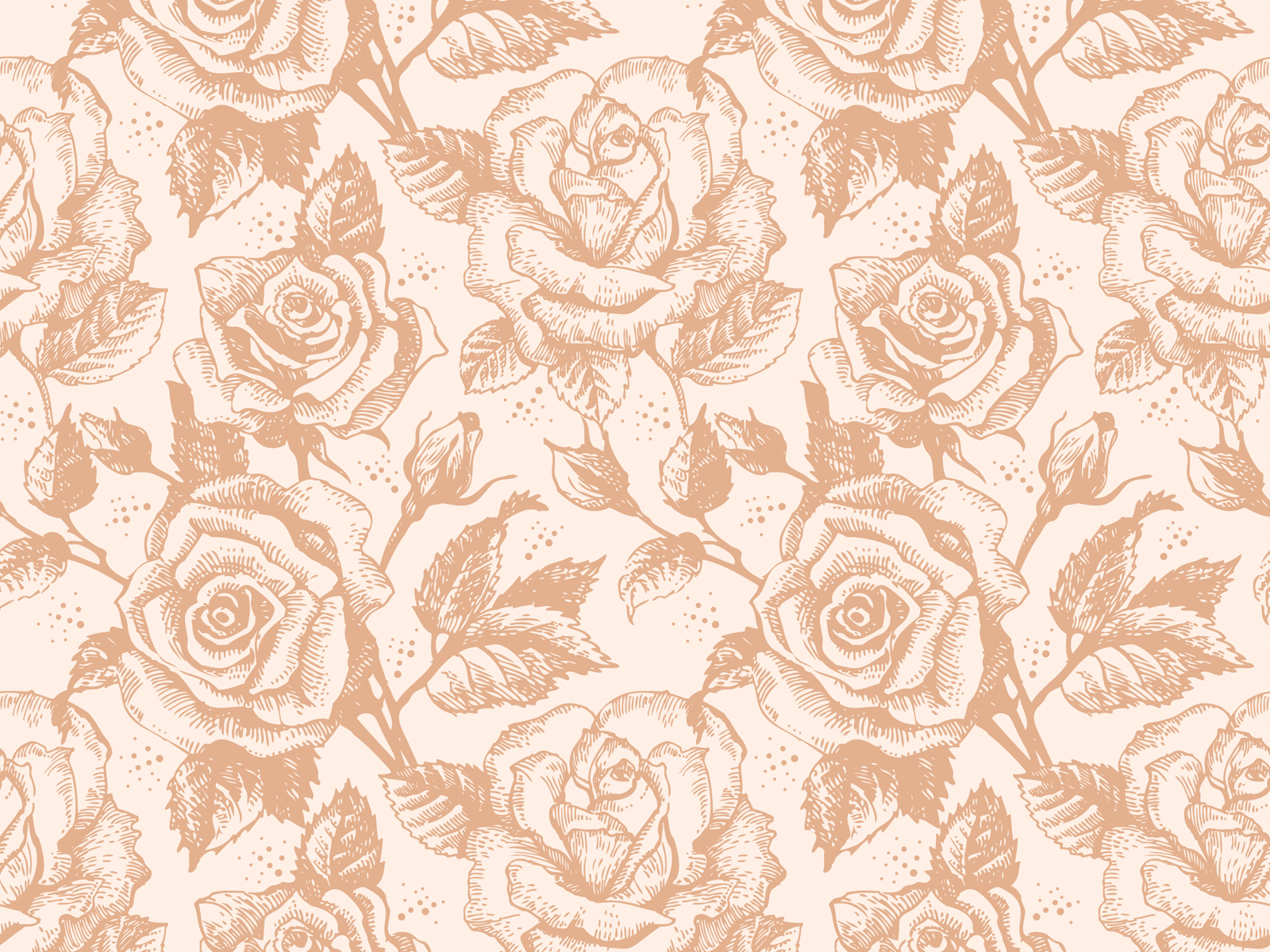 Retro Rose Flowers Backgrounds Colors Flowers Pattern